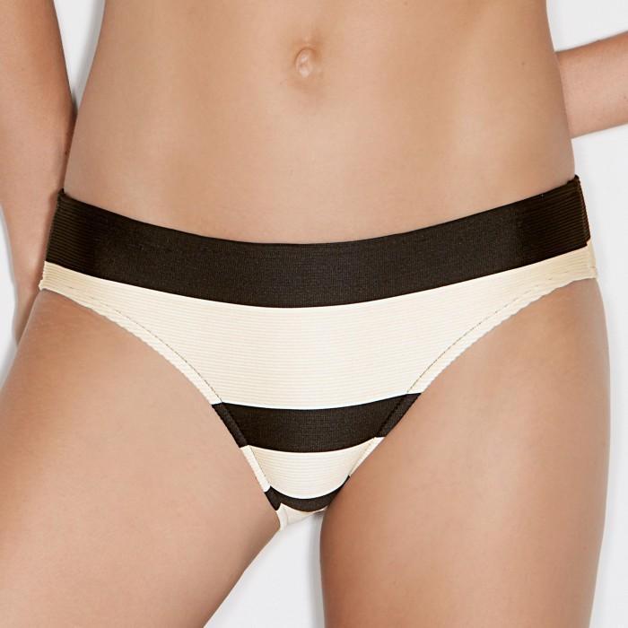 Bikinis rayés Sara Ecru,...