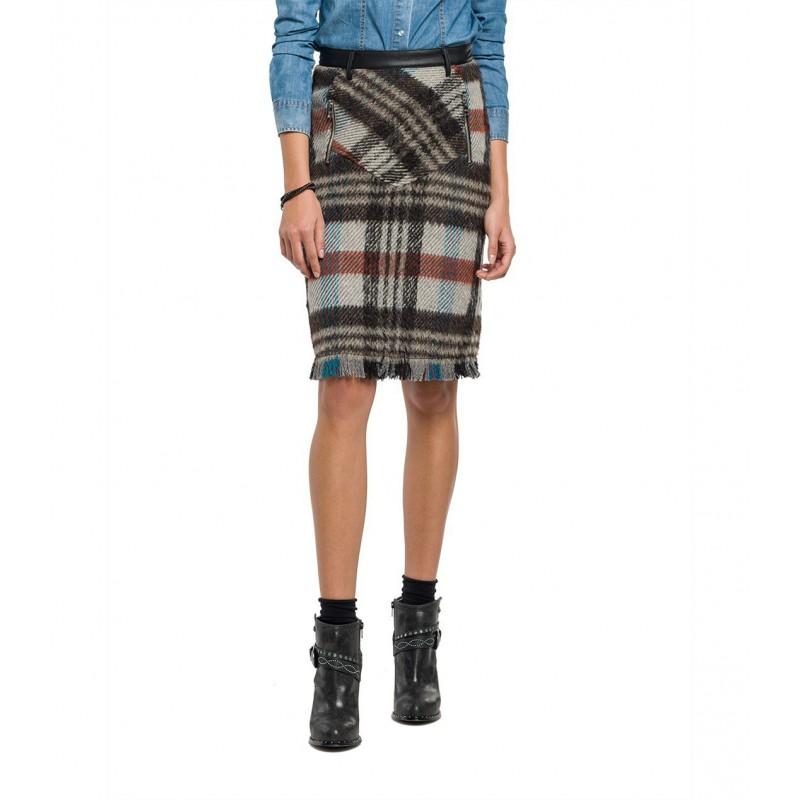 Pencil Skirts -Tartan wool- Replay Women
