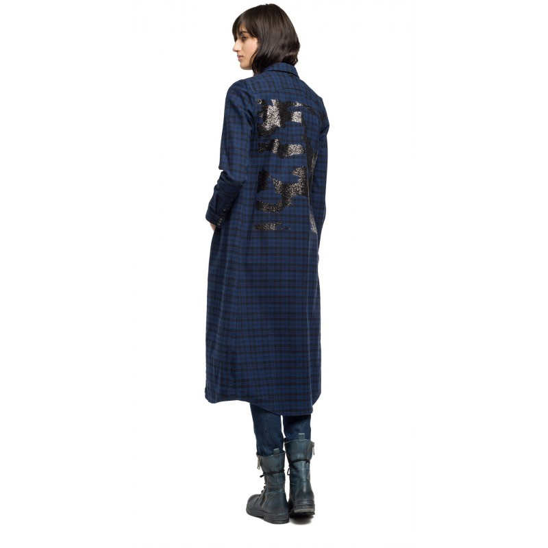 TARTAN SHIRTS DRESSES WOMEN-DRESSES REPLAY
