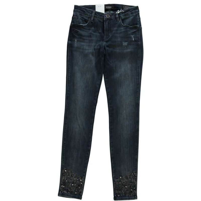 Vaqueros Guess mujer- Jeans Curve X Pedrería - Denim guess mujer