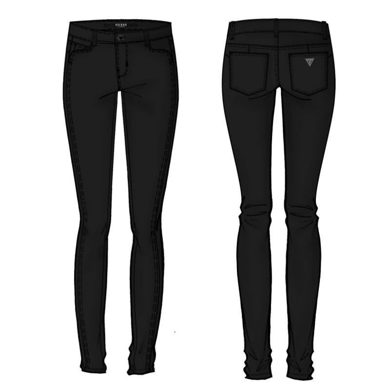 Pantalones negros Guess mujer- Curve X - Guess mujer