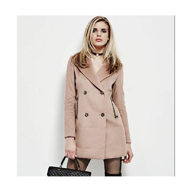 Abrigo marrón camel- Guess mujer- Ursola camel