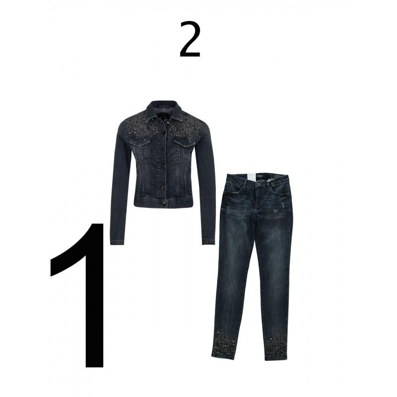 Guess-  Woman jacket, woman jeans,
