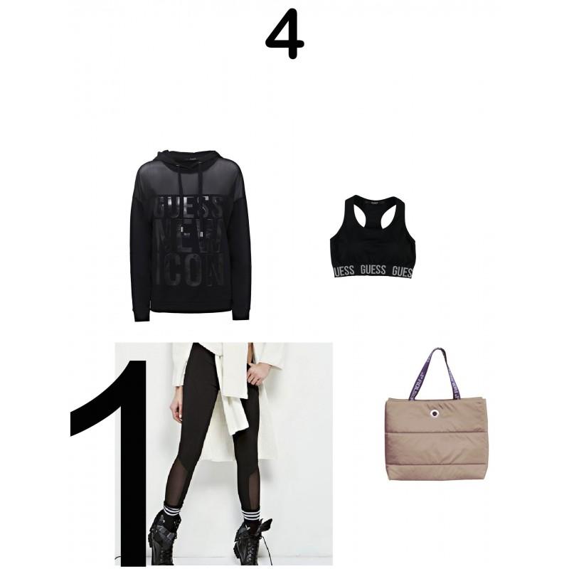 Guess- Replay- Woman guess sweatshirt, woman guess leaggings, woman gues top activewear, rolser bag