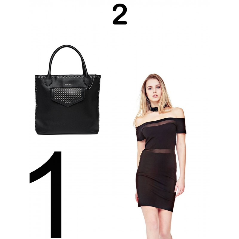 Guess- Replay- Woman replay bag, woman guess dress