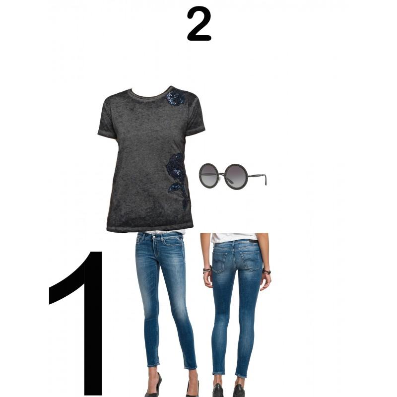 Guess - replay- Mujer -   Camiseta Replay,  Vaquero Replay