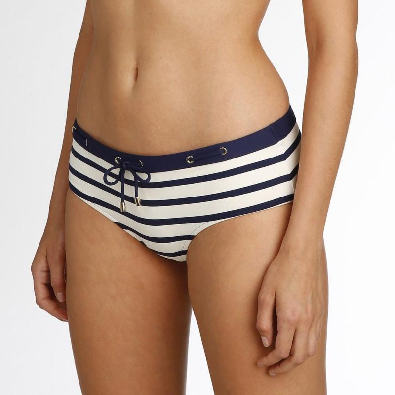 Bikinis a rayas marineras azules,  short- Baño Catherine azules 2018 online