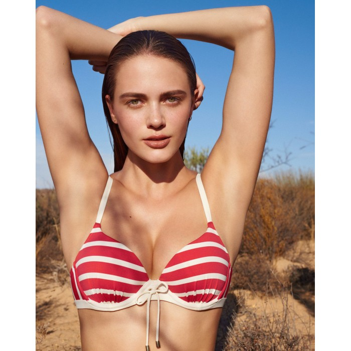 Bikinis red marin striped,...