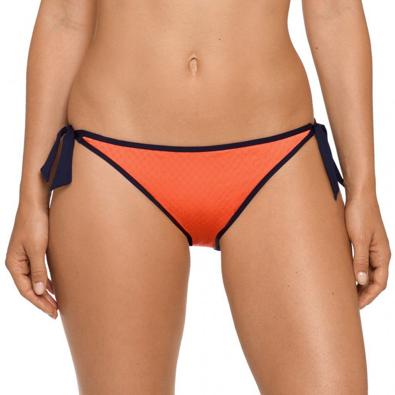 Bikinis tallas grandes, bikini naranja braga lazos- Joy, baño 2018 naranja