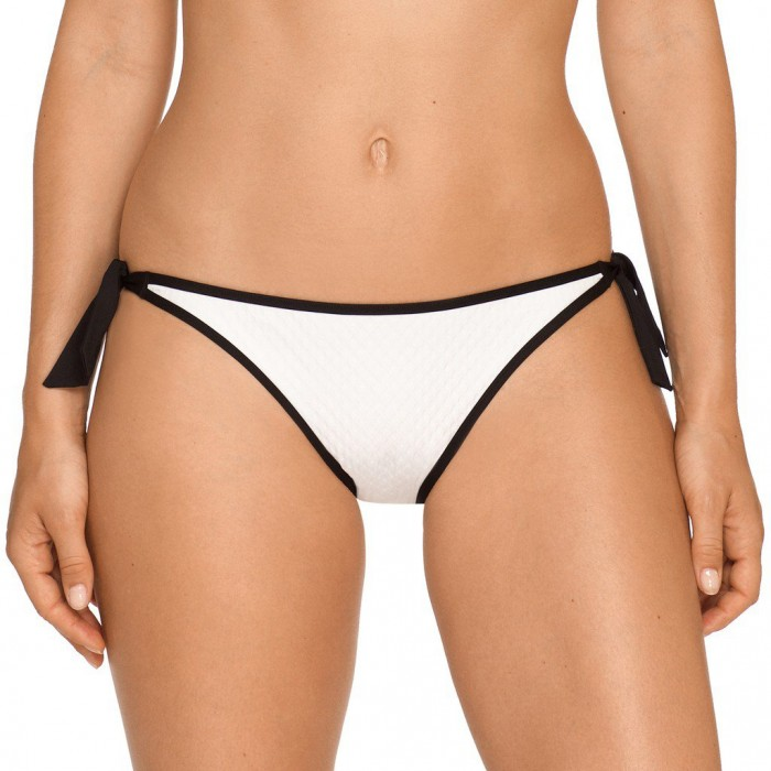 White bikinis, bikini tie side brief- Joy, swimwear 2018 white
