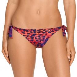 Bikinis animal print, serpent marron, violette, balconnet à armature rembourré - Karma amatista