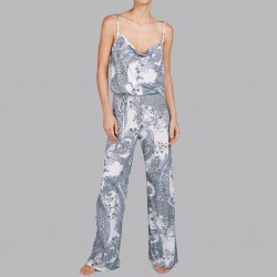 Polka dots jumpsuit white and blue by Andres Sarda 2018 Heron dots online