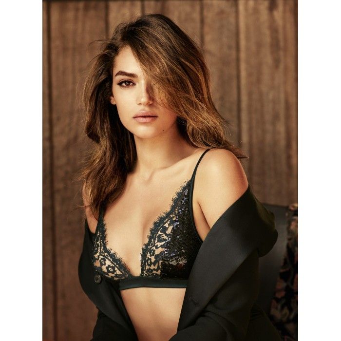 Black bras - special model with wire- Andres Sarda 2018 megeve black green, black lingerie