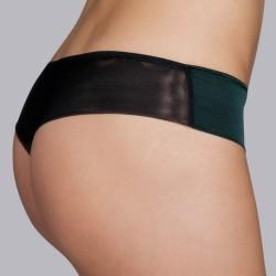 Shorty string dentelle noire lingerie- Andres Sarda 2018 Megeve, lingerie dentelle noire