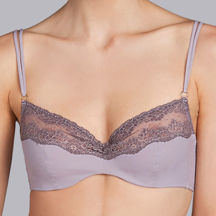 Nude bras - wire and cup- Andres Sarda 2018  Verbier romance,  nude and grey lingerie , cups B, C