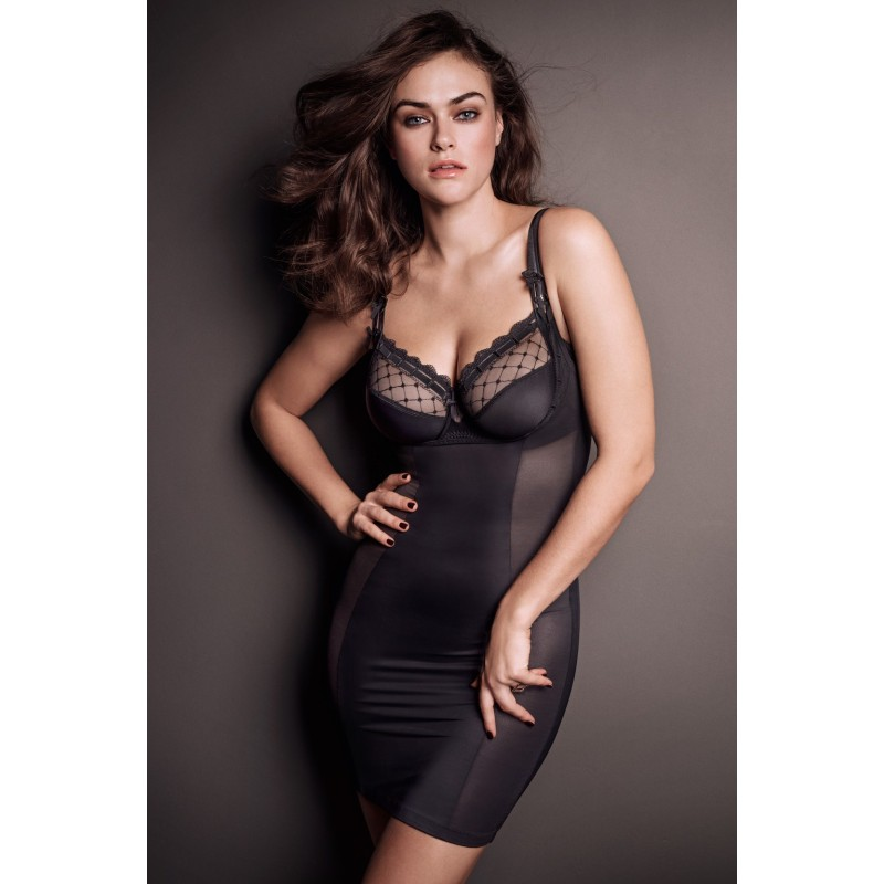 Vestido faja negro tallas grandes lencería- A La Folie negro vestido faja Primadonna 2018