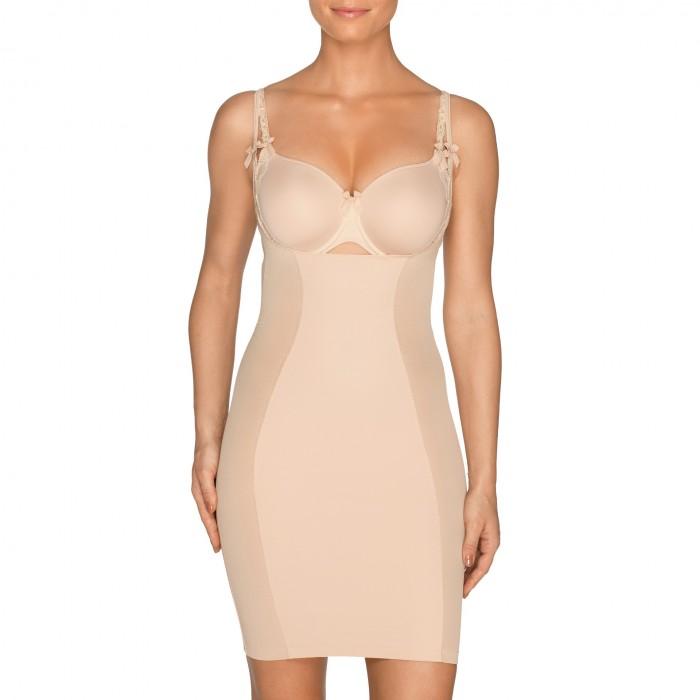 Caffè latte shapewear dress, large size lingerie- A La Folie caffè latte shapewear Primadonna 2018
