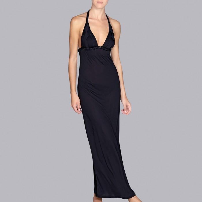 Vestidos negro verano, vestidos playa- Andres Sarda Baño negro Musha 2019