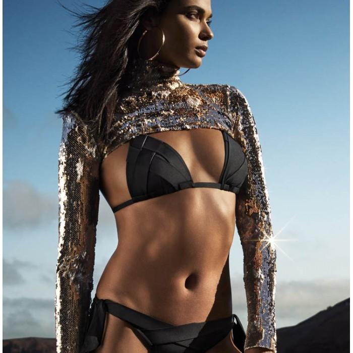 Bikinis negro triángulo, bikini sin espuma- Andres Sarda Baño negro Musha 2019