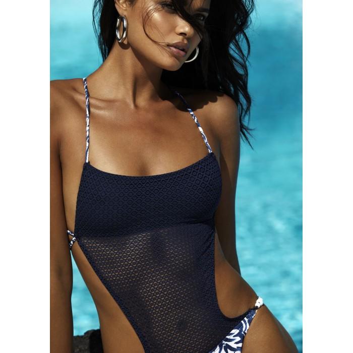 Bikinis Bleus, slip italienne- Andres Sarda Bain Necker Bleu 2019