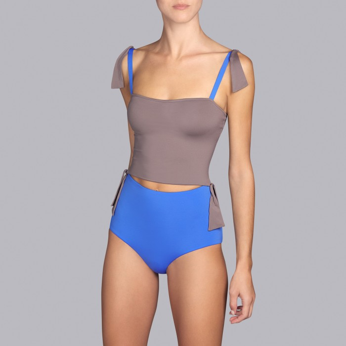 Maillots de bain bleus, maillots de bain deux pièces - Andres Sarda Belle Egyptian Blue Bain 2019