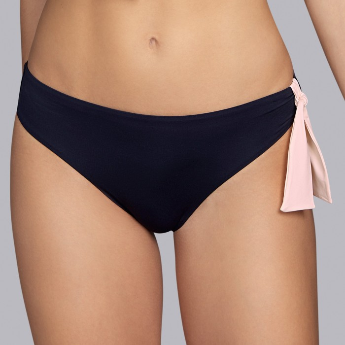 Bikinis negros, bikinis, braga bikini- Andres Sarda Baño Belle negro y rosa 2019, bikini brief