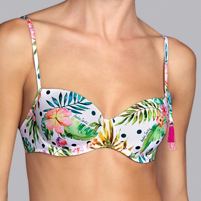 Bikinis Tropical- Bikinis balconnet à armature rembourrée imprimée Tropical Shelter tropical dots V , Andres Sarda , Été 2019