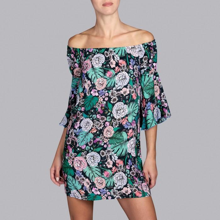 Flower Summer dresses- Pareo- dresses Shelter Romantic Garden, Andres Sarda , Summer 2019