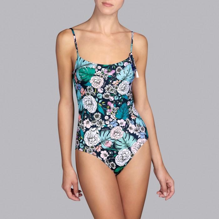Flower swimsuits - Padded t-shirt shape flower swimsuits Shelter romantic garden V , Andres Sarda , Summer 2019