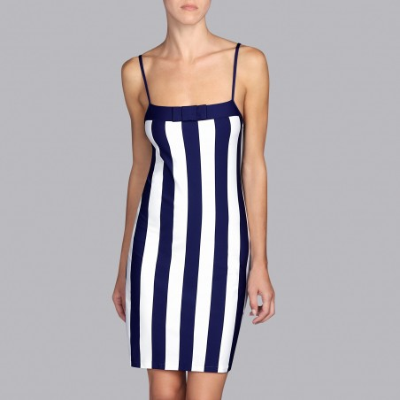 Striped Blue beach dresses, Summer 2019 Azura water blue- Andres sarda 2019