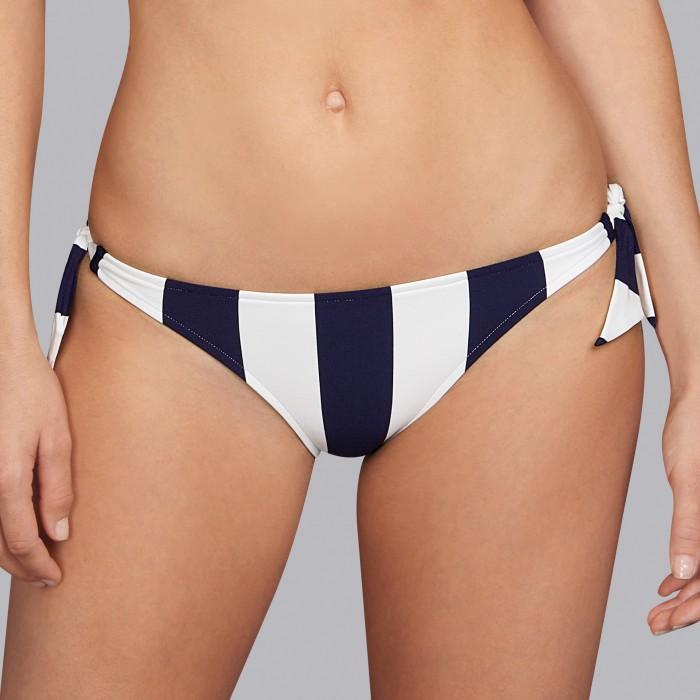 Bikinis à rayures bleues, bikini culotte liens- Andres Sarda Azura 2019 Bikinis