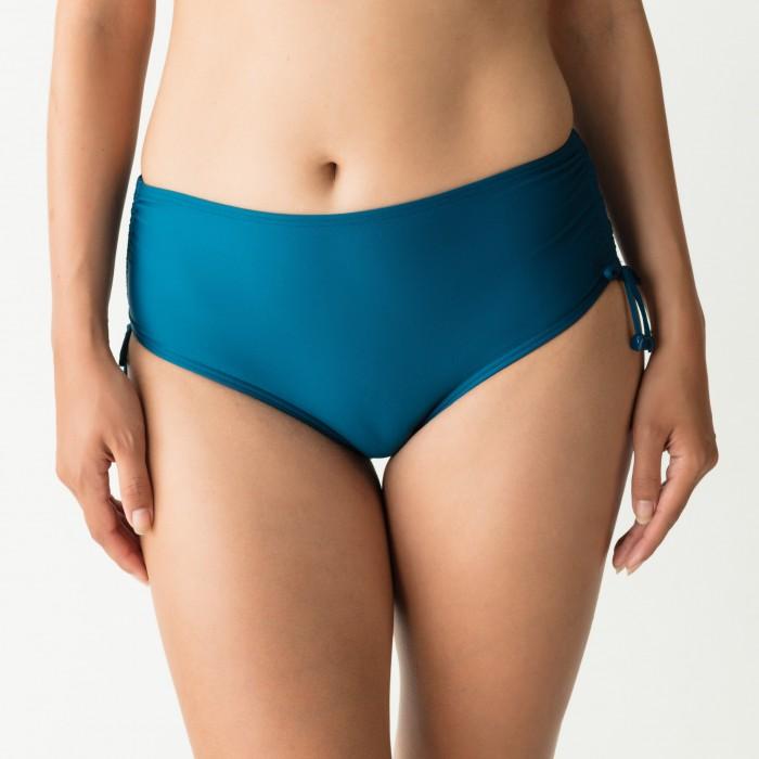 Bikinis con cordones braga alta azules índigo- Cocktail Booboo- Primadonna tallas grandes, high briefs ropes