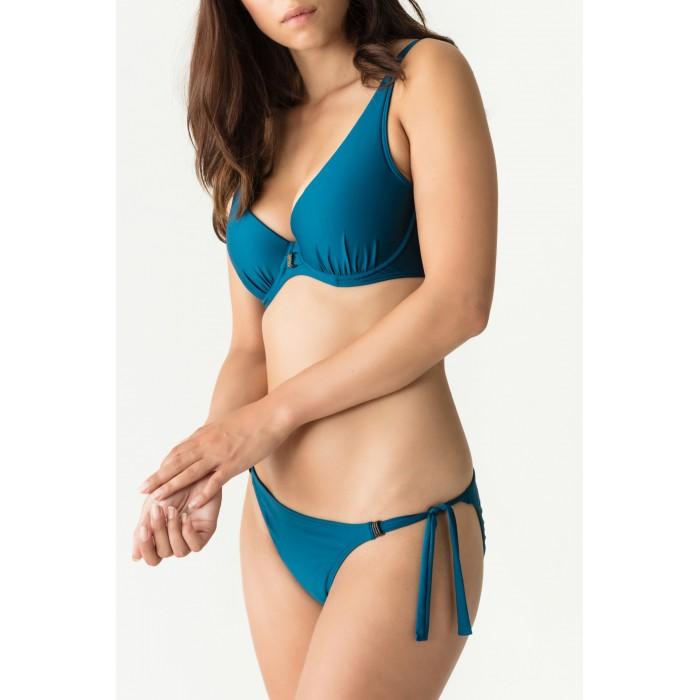 Blue bikinis, tie side Big sizes , indigo blue- Cocktail Booboo- Primadonna Swimwear