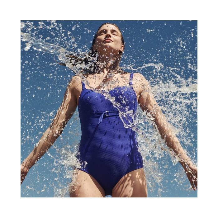 Padded Blue Swimsuits - 2019 Rosanna blue- MJ big sizes