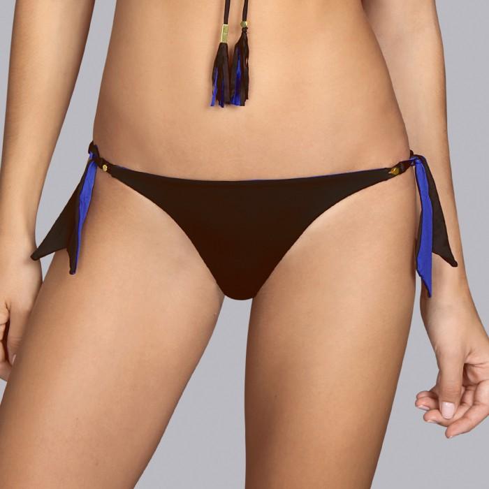 Bikinis, braga lazos, marrones delujo, Wilson marrón wenge- Baño Andres Sarda 2019