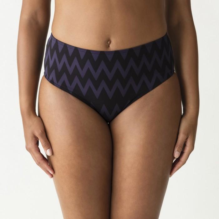 Striped Bikinis, full briefs, violet and black, Primadonna Venice, Large sizes, Summer 2019