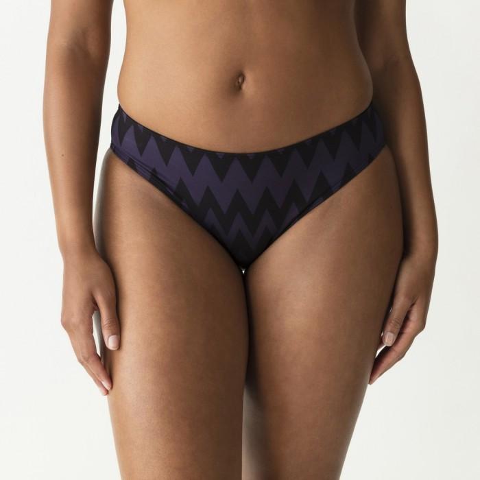 Striped Bikinis, biefs bikini,  violet and black, Primadonna Venice, Large sizes, Summer 2019