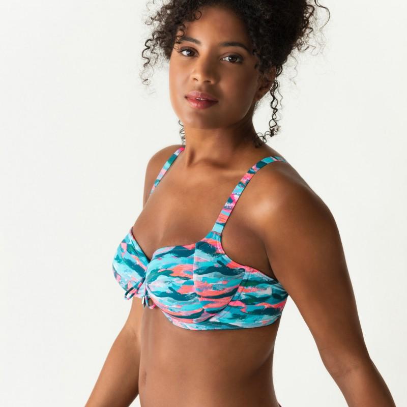 Bikinis azules, reductores,espuma y aro, Primadonna, New Wave 2019, tallas grandes, portada
