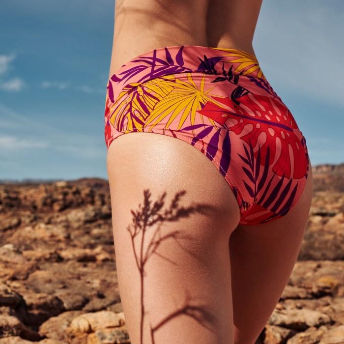 Tropical Bikinis, high briefs - Laura Fiori Pink, high hip panty