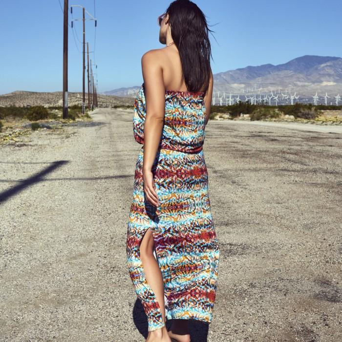 Beach dresses animal print, large, bandeau, Primadonna Vegas, Spring-Summer 2019