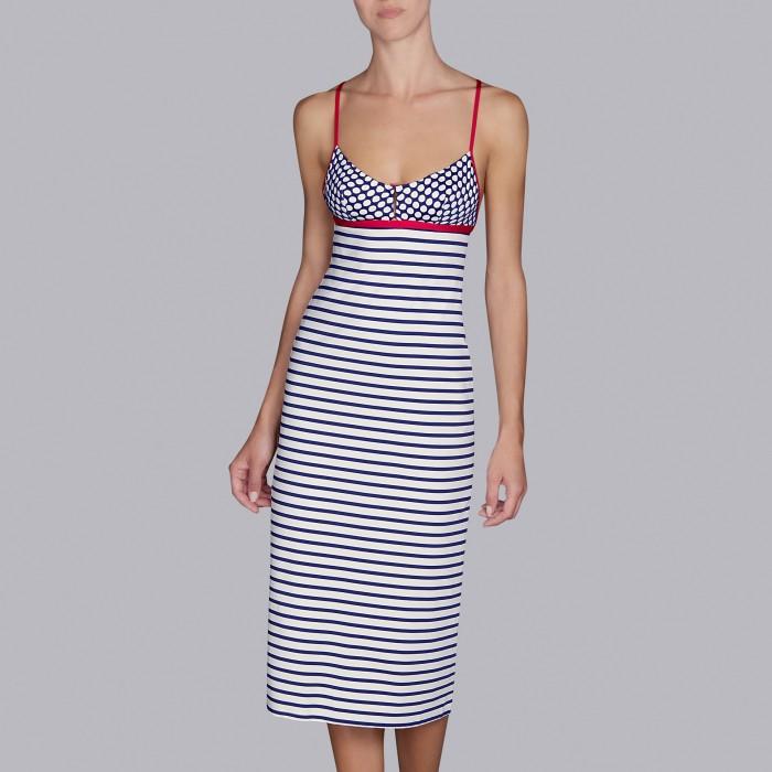 White striped beach dresses - Wakaya marine- Andres Sarda Swimwear 2019