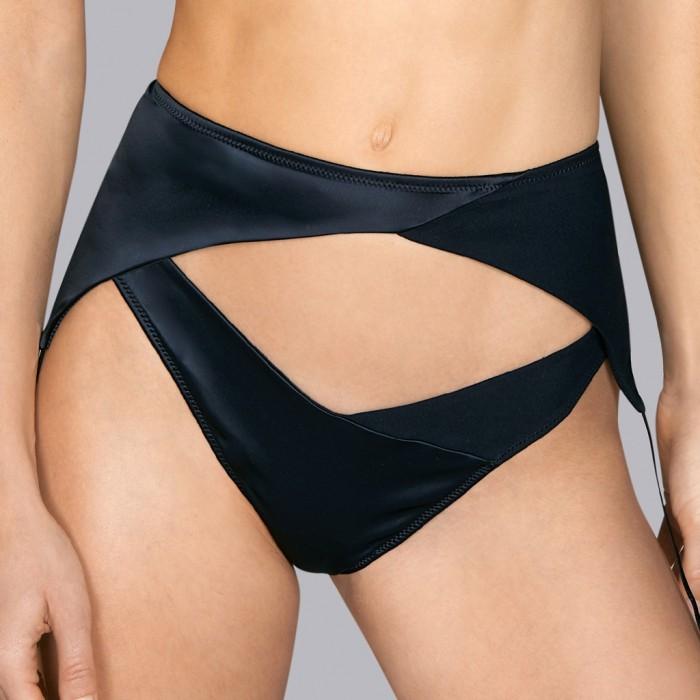 Garter Belt- Black saten and luxury Garter Belt- Black Tiziano Andres Sarda 2019, Lace Underwear