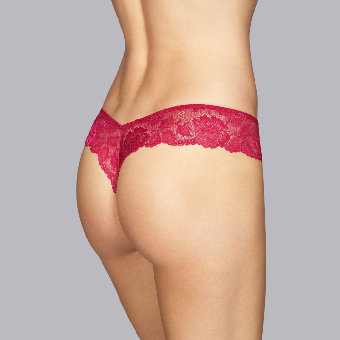 Red string- short thong Lingerie- Persian red Tiziano Andres Sarda 2019, Lace lingerie