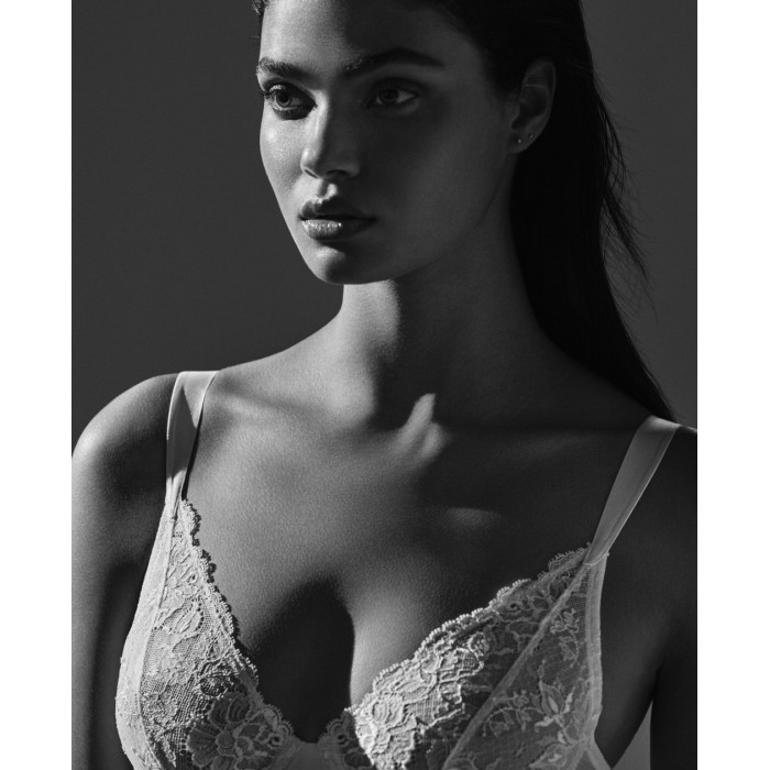 Lace bridal Bras- not padded wire,  D, E cup- Vintage Natural Tiziano Andres Sarda 2019, Lace bridal underwear