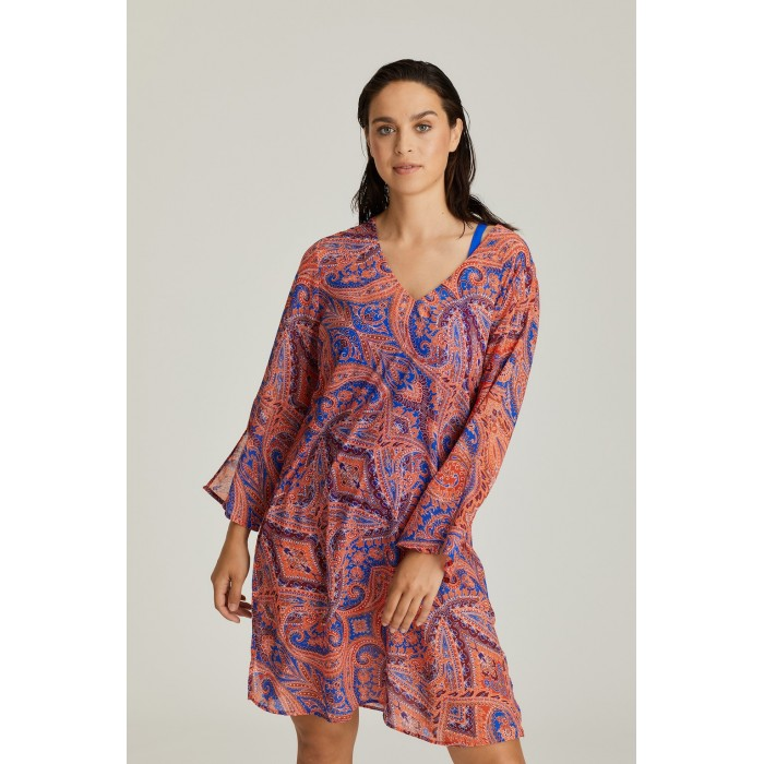 Summer cashmere printed dress, big size dress, Primadonna cashmere Casablanca 2020, to 46 size