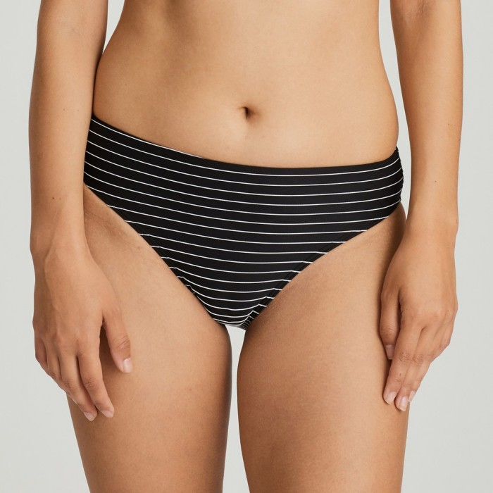 Black striped Bikini brief Big Size, bikini brief , Primadonna smoking black Sherry Big Size 2020, to 46