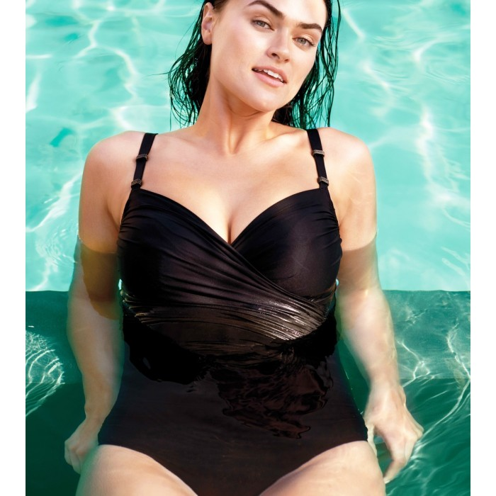 BLACK STRAPLESS SWIMSUITS,...