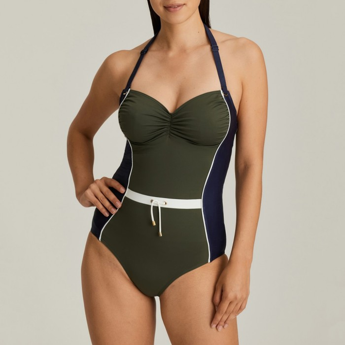 Swimsuit military green big sizes, swimsuit PrimadonnaOcean drive green big sizes 2020,