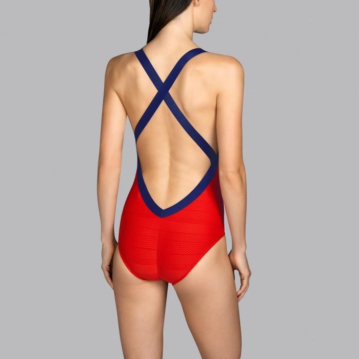 Bañador rojo Fiera escarlata escote espalda Andres Sarda - Bañador escotado Mod rojo 2020