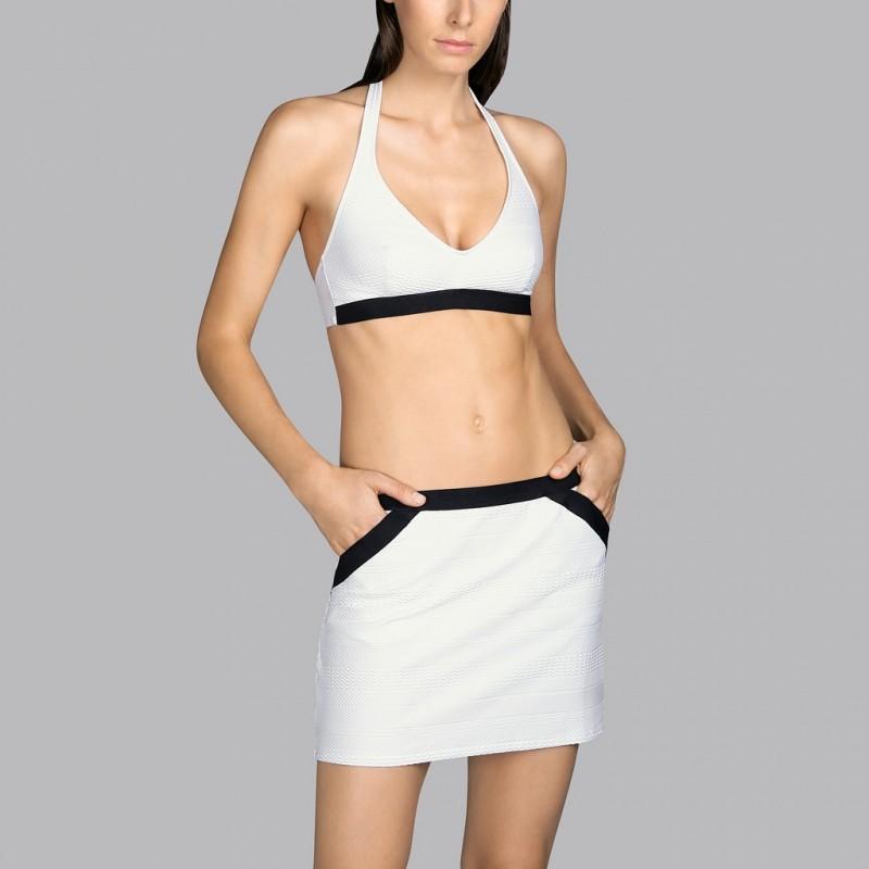 Falda pareo blanco Andres Sarda - Falda Pareo Mod blanco 2020